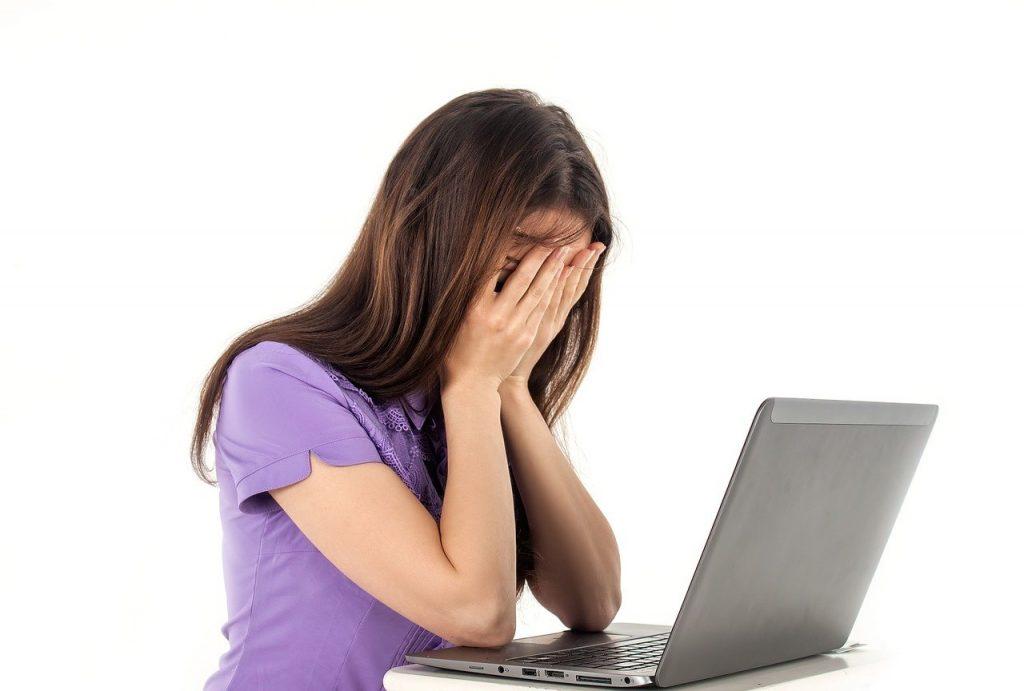 girl, computer, notebook